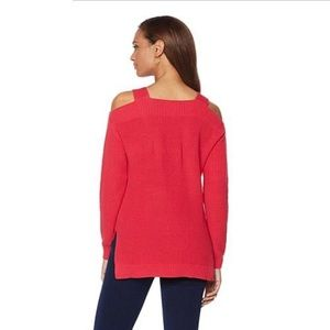That Woman By Marlo Thomas Cold Shoulder Sweater
